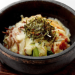 Stone-roasted bibimbap with cheese